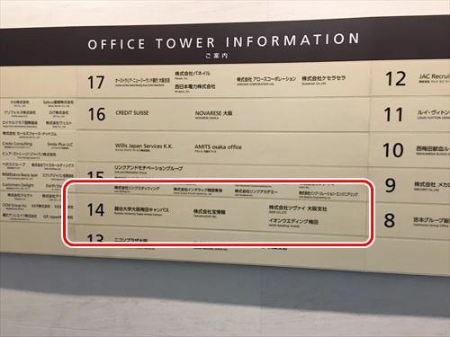 ヒルトンプラザ14階